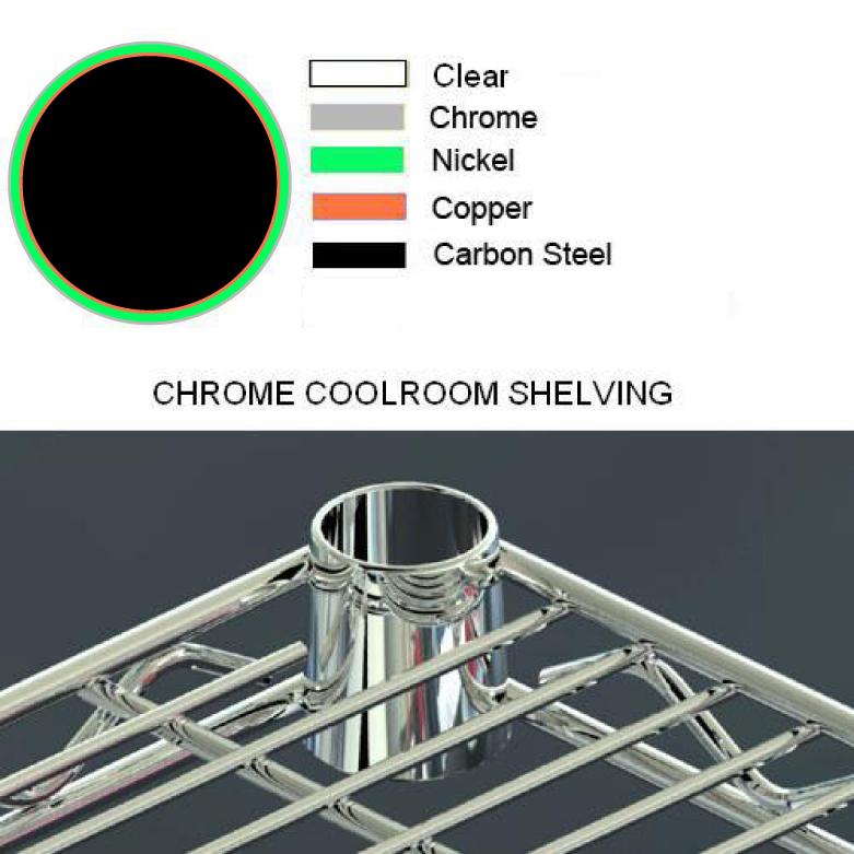 Chrome Coolroom Shelving